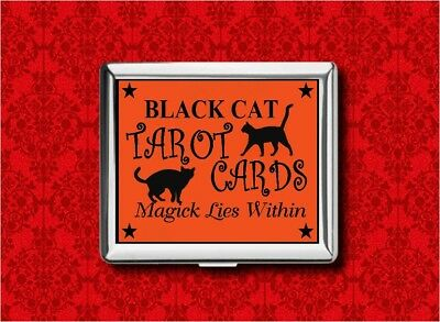 Black Cat Tarot Cards Witch Halloween Stash Card Wallet Cigarette Id Ipod Case