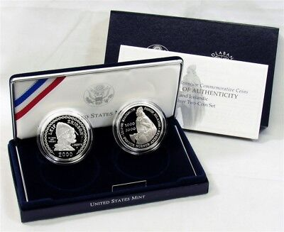US Mint 2000 Leif Ericson Millennium Commem Proof Silver Coins Set
