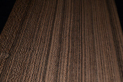 Bocote Raw Wood Veneer Sheets 6 x 45 inches 1/42nd thick                 E7318-6