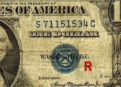 Fr. 1609. EXPERIMENTAL-R-  $1 1935A Silver Certificate ** More Currency for Sale