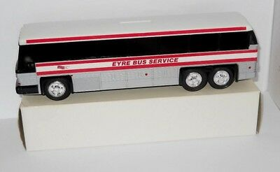 "Vintage Toy Plastic Eyre Bus Service Bank, 10"" ,  New in Box"