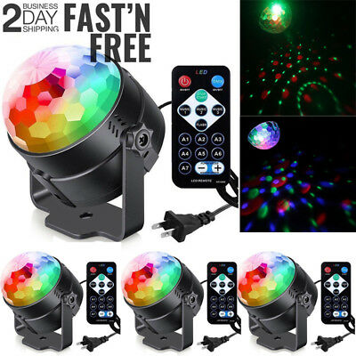Lot4 Party Disco Lights Strobe Led Dj Ball Sound Activated Dance Bulb Lamp Decor