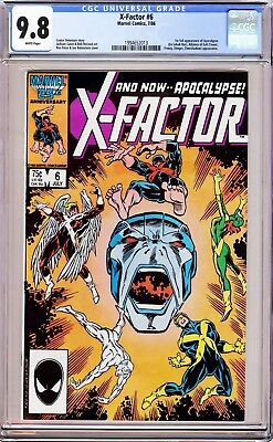 X-FACTOR #6 RON FRENZ (1986) CGC 9.8 WHITE PAGES 1st Appearance of Apocalypse!!