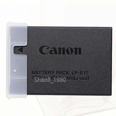 Genuine Canon LP-E17 Battery Pack for EOS 77D M6 M5 M3 T7i T6i T6s SL2 Cameras