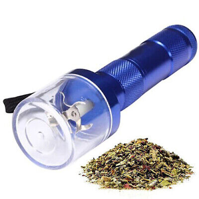 Electric Sharp Aluminum Metal Grinder Herb Tobacco Spice Crusher Smoke Black
