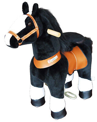 PonyCycle  Kids Manual Ride on Horse Small 3-5 Year Black with White Hoof New