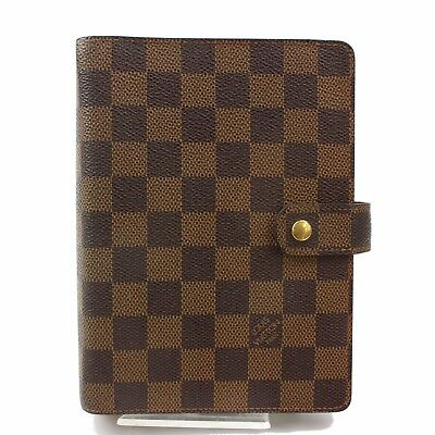 Authentic Louis Vuitton Diary Cover Agenda MM Brown Damier 365954