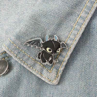Unique How to Train Your Dragon Toothless Brooch Metal Drip Pin Brooch Jewelry ^