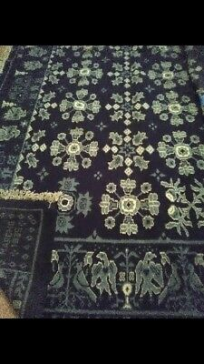 Antique American wool rug made in 1835. Late federal period 18'x12'