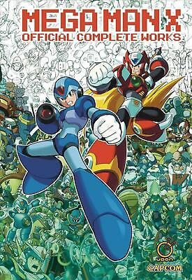 Mega Man X: Official Complete Works Hc by Capcom Hardcover Book Free Shipping!