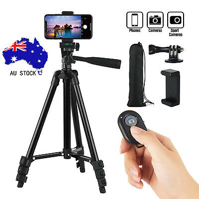 Professional Camera Tripod + Bluetooth Remote Control For iPhone Samsung Camera