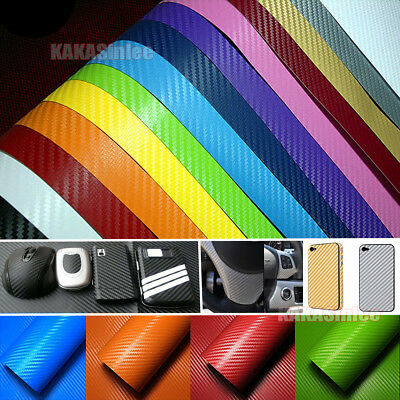 DIY Adhesive Car House 3D Texture Carbon Fiber Vinyl Tape Wrap Sticker Decors CB
