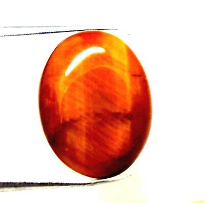 8.15 Ct Natural Iron Tiger Eye Cabochon Oval Cut Losse Gemstone