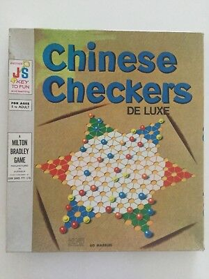 1962 by Milton Bradley Chinese Checkers De Luxe vintage 60 original marbles