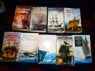 "9 PATRICK O'BRIAN ""Jack Aubrey"" PAPERBACKS-BUY NOW £9.99-FREE UK POSTAGE"