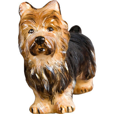 Australian Terrier Dog Polish Glass Christmas Ornament Made in Poland Decoration