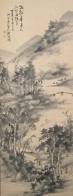 #0836 Japanese Hanging Scroll: Mountain Landscape
