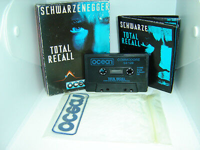 Total Recall From Ocean Boxed Game Tape For Commodore 64 C64 Computer