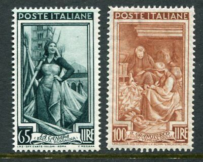 ITALY 1950 PROFESSIONS 65L + 100L MNH 2 Stamps cat EURO 150