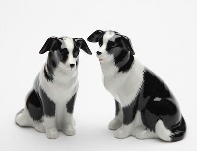 Border Collie Dogs Ceramic Kitchen Salt and Pepper Shakers 20870 New