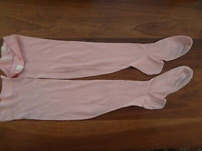 "Antique vintage Victorian 1800's Doll childs pink stockings 6 "" foot 19 "" long"