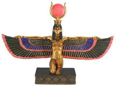 Ancient Egyptian Deity Isis with Open Wings Figurine Egypt God Decoration New
