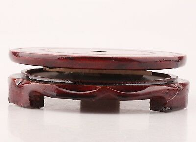 Retro Chinese Wood Handmade Snuff Bottle Display Base Can Be Rotated Collection