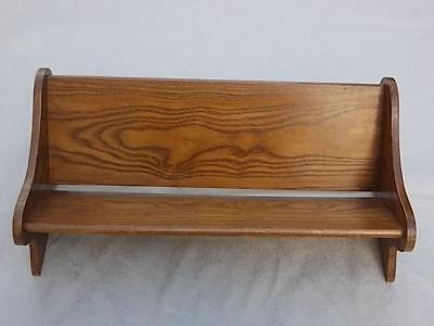 942 / An Arts And Crafts Hand Made Wooden Book Trough Book Rack