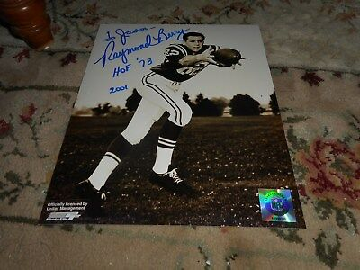 Raymond Berry Signed TO JASON 8x10 Photo Football Autograph Baltimore Colts
