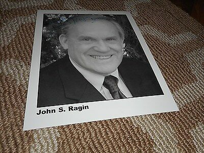 John S. Ragin Signed TO JASON 8x10 Photo Quincy Celebrity Actor TV Autograph