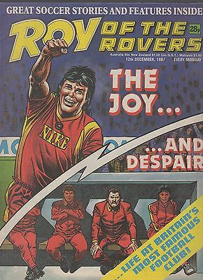 (-0-) ROY OF THE ROVERS COMIC 12th december 1987