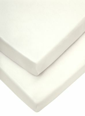 Cot Fitted Sheets 63 x 127 cm, Cream, Pack of 2 , Nursery Bedding