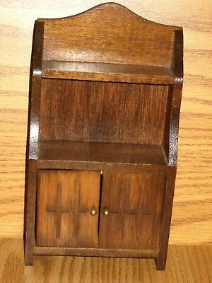 Vintage Doll House Furniture Dining Room Wood Hutch Breakfront Ex. Cond.