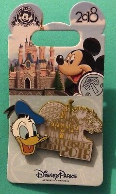 Disney Parks Pin  WDW 2018 Dated Collection Donald Duck Walt Disney World Icons