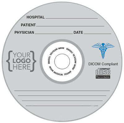 100-Pak CUSTOM PRINTED LOGO on MAM-A MEDICAL GRADE Archival 52X 80-Min CD-R's!