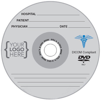 100-Pak CUSTOM PRINTED LOGO on MAM-A MEDICAL GRADE Archival 4.7GB 16X DVD-R's!