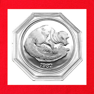 1982 Jamaica.925 Silver Proof $10 Indian Mongoose Proof Coin Franklin Mint Issue