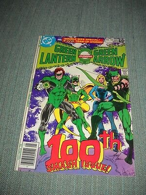 Green Lantern # 100 Comic 1978 Vg+ 4.5 With Green Arrow Mike Grell