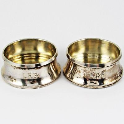 Pair Of Antique Alexander Sturm Vienna, Austria Austrian 800 Silver Salt Cellars