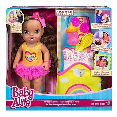 Baby Alive Darcis Dance Class Dark Hair Doll