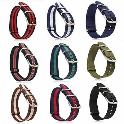 Retro Replacement Nylon Watch Strap Band Military Army Diver 16mm 18mm 20mm 22mm
