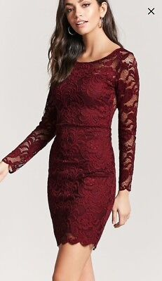 Gorgeous Forever21 Lace Long Sleeve Stretch Dress Size