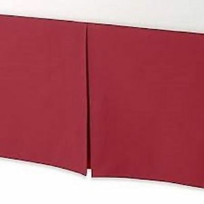Smoothweave 14-Inch Tailored Twin Bed Skirt in Claret Red