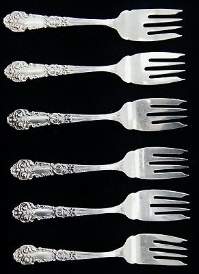 Lot Of 6 Reed And Barton FRENCH CONNECTION Sterling Silver Salad Forks 6""