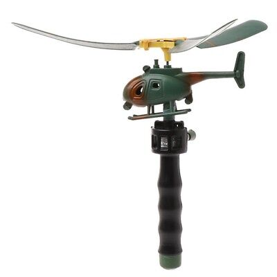 Children Kids Xmas Gift Helicopter Pull String Handle Educational Toy Drone UK Z