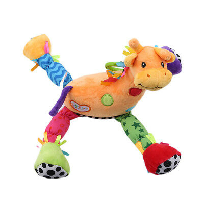 Baby Soft Rattles Plush Animal Appease Toys Stroller Pram Bed Hanging Dolls Z