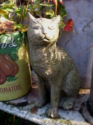 Architectural Salvage, Vintage French Kitten,Cat,Garden Statue,Nicely Weathered
