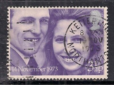 GB 1973 QE2 3 1/2p Royal Wedding used stamp SG 941 ( B285 )