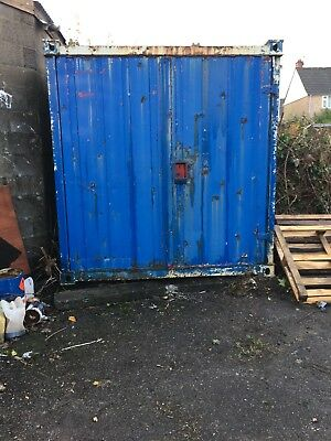 20ft steel storage / shipping container, blue