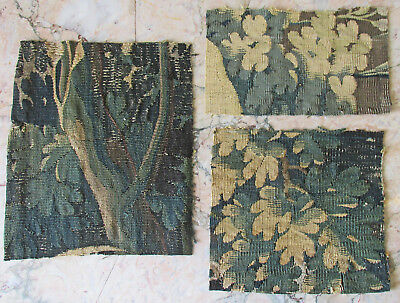 Three 18Th Century Verdure Tapestry Fragments